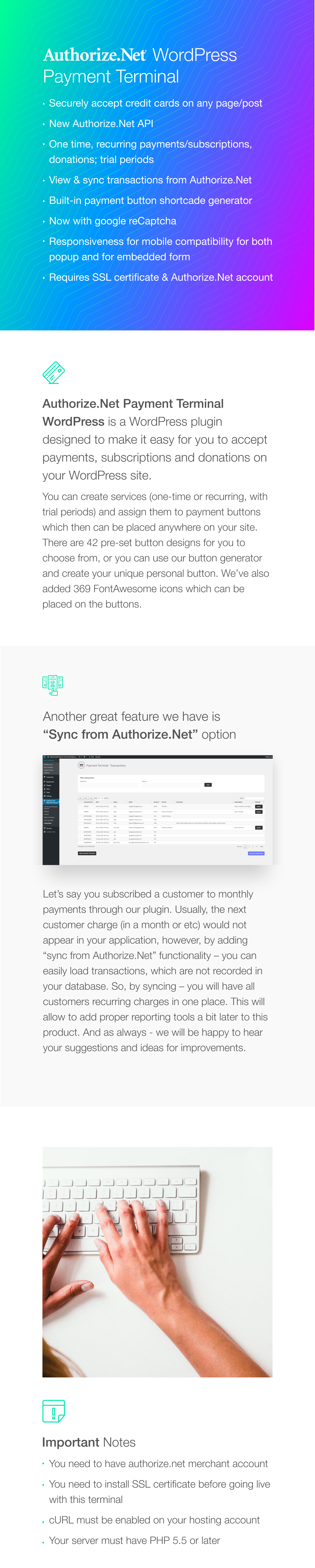 Authorize.Net Payment Terminal WordPress - 1